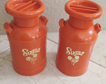 DM Plastics Sugar Dispenser, Vintage Sugar Container, Sugar Canister