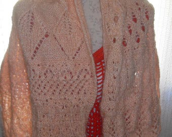large knit mohair scarf