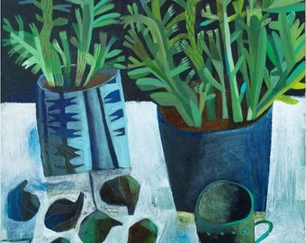 SIX FIGS by Este MacLeod, limited edition print of 50 units.
