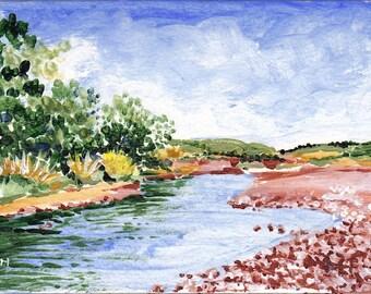 New Zealand River Original Acrylic Painting