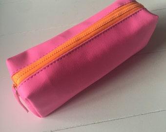 Pencil case bright neon pink (ET01)