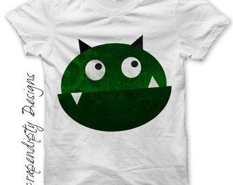 Monster Iron on Transfer - Space Iron on Shirt PDF / Kids Boys Clothing Tshirt / Space Shirt / 1st Birthday Boy Shirt / Monster Shirt IT3