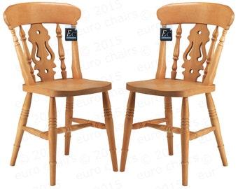 Farmhouse Fiddle-Back Chair: