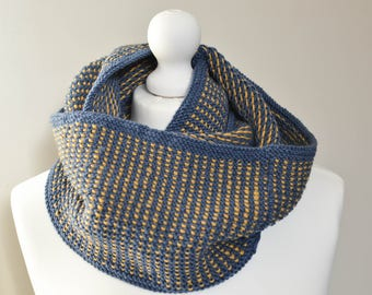 PDF Knitting pattern - two colour cowl, snood, infinity scarf