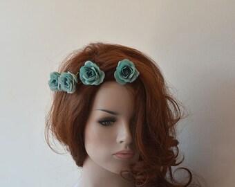 Turquoise Aqua Blue Hair Clip, Wedding Hair Clip, Bridal Hair clip,  flowers Wedding Clip, Wedding Hair Accessories, Bridesmaid Hair