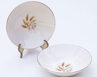 Small Vintage Bowls Autumn Wheat