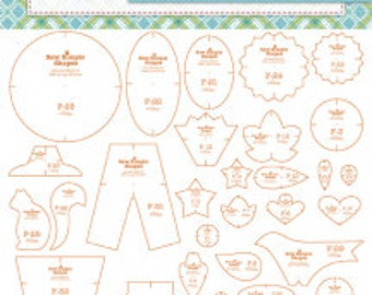 PREORDER Sew Simple Shapes Autumn Love Template Rulers by Lori Holt of Bee in my Bonnet - Riley Blake