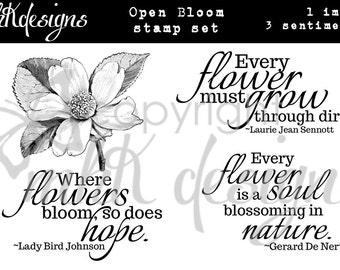 Open Bloom Digital Stamp Set