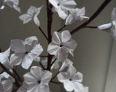 Items similar to Origami Paper Cherry Blossoms - White on Etsy - photo#2
