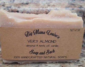 Almond Soap, Cold Process Soap, Handmade Soap, Organic Soap, All Natural Soap, Vegan Soap