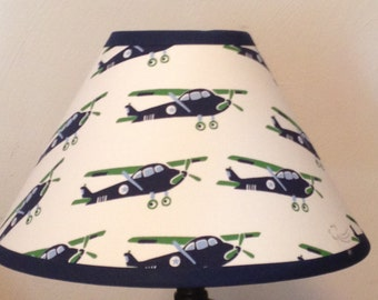 Vintage Planes Children's Fabric Lamp Shade/Baby Gift