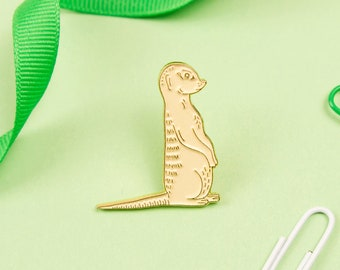 Meerkat Pin / Cute Animal Pin / Suricata / Africa Pin / Safari / Meerkat Enamel Pin / Emaille Pin / Animal Enamel Pin / Cute Pin / Pin Badge