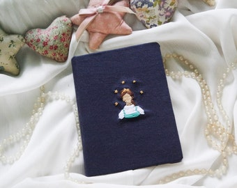 Dreamer | Embroidered Journal | Journal | Fabric Covered Notebook | Blank Page Journal | Hard Cover Journal
