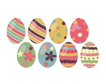 Easter Egg Window Clings (set of 8)