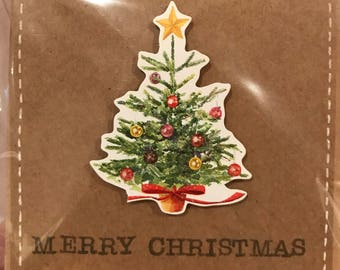Sparkle Merry Christmas Tree Christmas Card