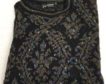 Vintage 80's Tony Lambert 100% Cotton Sweater