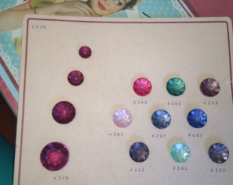 lot of 13 buttons year 1950 s!