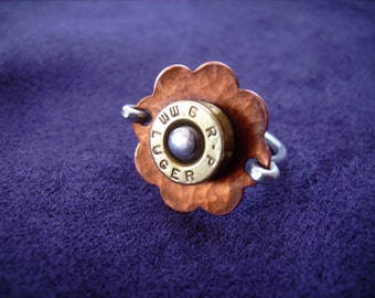 daisy ring with bullet, made to order in your size