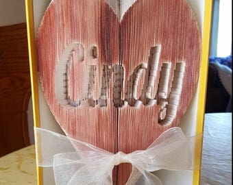 Heart With Name Book Art