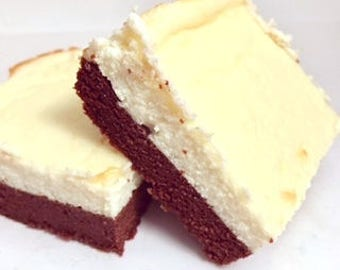 Brownie Cheesecake, Low Carb High Fat, Refined Sugar Free, Protein, Gluten Free, Diabetic Friendly