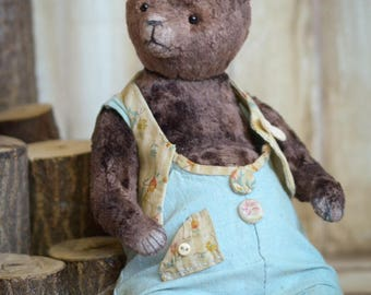 Plushik Artist Teddy Bear 9in OOAK