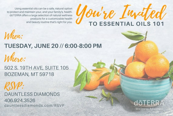 doTERRA Class Invitation Tangerine