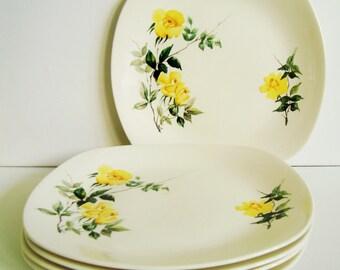 Set of 5 Midwinter Stylecraft 'golden glory' dinner plates Staffordshire