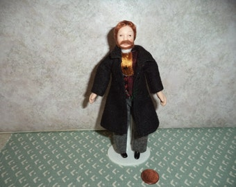 1:12 scale dollhouse miniature Porcelain Man doll