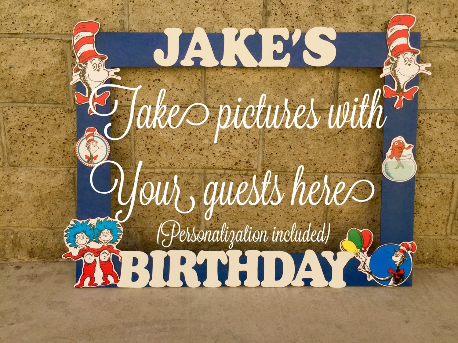 Dr Seuss photo frame booth Baby Shower birthday party picture