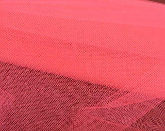 Cerise Net Fabric, Material Netting, Petticoat Net Sold By The Metre