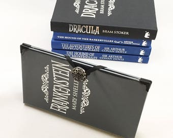 Frankenstein Book Purse Wallet - Sherlock Literary Gift - Dracula Book Cover Wallet - Wallet made from a book