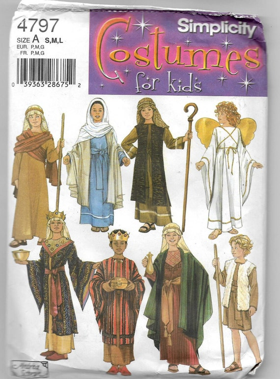 Uncut, Child Size 2 to 12, Sewing Costume Pattern, Simplicity 4797 ...