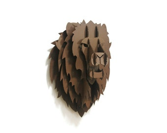 Game of Thrones inspired DIY House Lannister Lion Head Wall Mount pattern