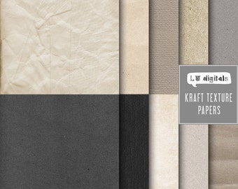 Kraft texture digital paper neutral natural colors scrapbooking papers background textured distressed cardboard scrapbook invite card making