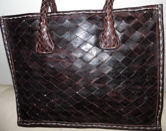 dark brown lifetime leather handbag
