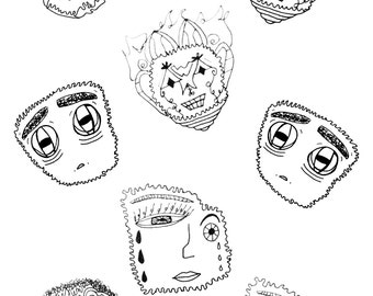 ABSTRACT FACES by Laveeza