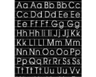 Chalkboard Alphabet Stickers: Black