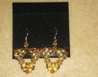 Triangle crystal earrings