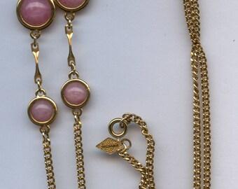 """Sarah Coventry """"Pink Parfait"""" Necklace- C.1979"""