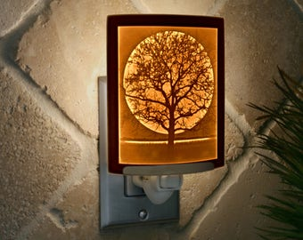 Midnight Moon Porcelain Lithophane Night Light