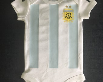 argentina soccer baby bodysuit