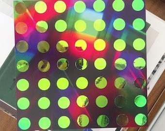 framed dotty rainbow collage