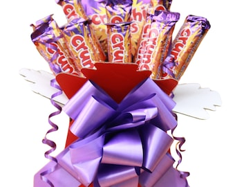 Cadbury Crunchie Chocolate Bouquet - Sweet Hamper Gift, Birthday, Anniversary, Special Occasion, Get Well, Thank You, Congratulations