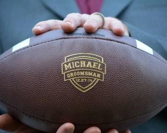 Mens Wedding Gift, Ring Security, Groomsmen Football, Personalized College Football, Custom Football, Groomsman, Groomsmen Gift