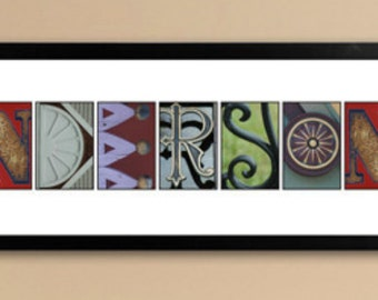 Architectural Elements II Color Family Name Prints - Personalized