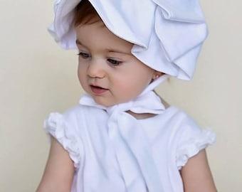 Monogrammed Bonnet Baby Hat Newborn Cotton Girls Monogram Shower Gift