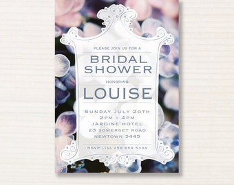 bridal shower invitation -  printable invitation - digital invitation - hydrandra