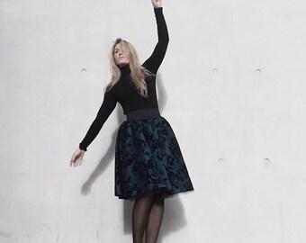 Tulle Midi Skirt for Christmas with velvet flower details | Handmade Tulle Skirts for Christmas Outfits & Gifts