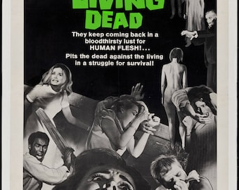 Night of the Living Dead 1968 Cult Vintage Horror Film Movie Poster Print A3 A4