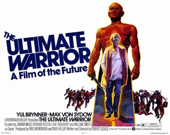 The Ultimate Warrior (1975) 11 x 14 movie poster Yul Brynner science fiction Max von Sydow post-apocalyptic New York City William Smith